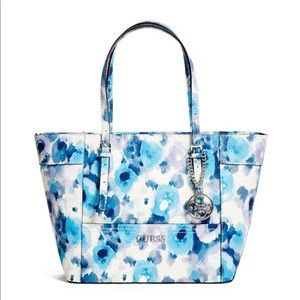 GUESS DELANEY FLORAL-PRINT CLASSIC TOTE